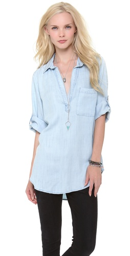 Bella Dahl Summer Chambray Blouse at Shopbop / East Dane