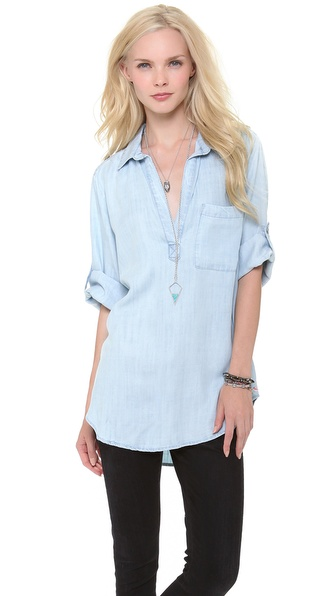 Bella Dahl Summer Chambray Blouse - Sunbleach Wash at Shopbop / East Dane