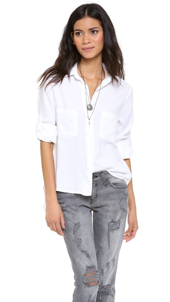 Bella Dahl Chambray Button Down - White at Shopbop / East Dane