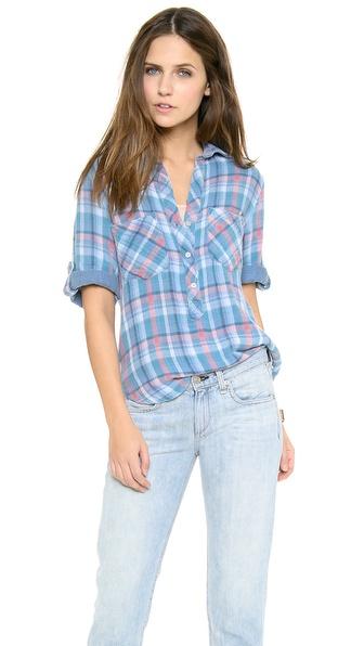 Bella dahl for Bella dahl plaid shirt
