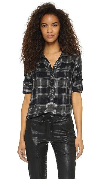 Bella dahl capri plaid pullover shopbop for Bella dahl plaid shirt