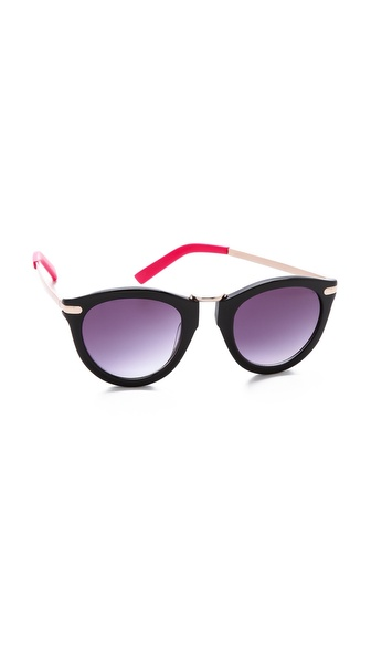 Beach Riot The Superior Sunglasses - Black at Shopbop / East Dane