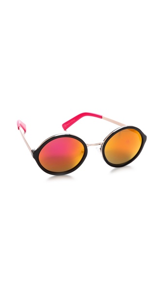 Beach Riot The Victoria Revo Sunglasses - Pink Revo at Shopbop / East Dane