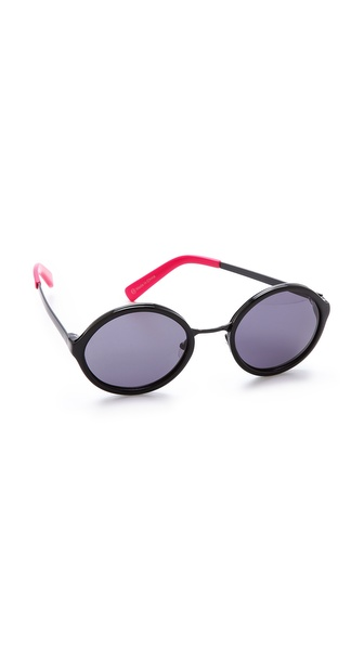 Beach Riot The Victoria Sunglasses - Black at Shopbop / East Dane