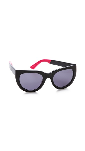 Beach Riot The Broadway Sunglasses - Black at Shopbop / East Dane