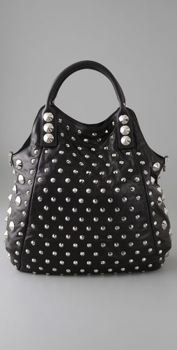 BE & D Garbo Tote with Silver Hardware