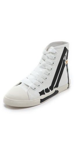 BE & D Skeleton High Top Sneakers at Shopbop / East Dane
