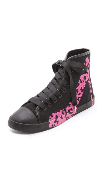 BE & D Glitter Leopard Sneakers