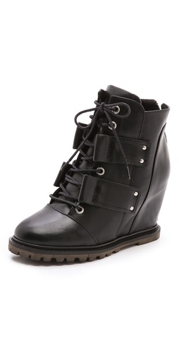 BE & D Knightsbridge Wedge Booties at Shopbop / East Dane