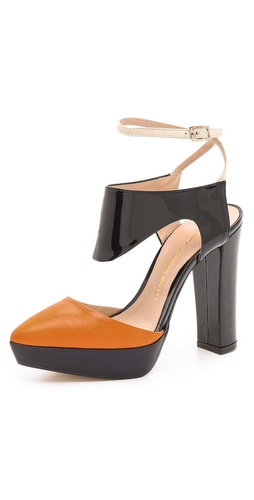 Beau Coops Beau Coops for Karen Walker Peltro Colorblock Platform Pumps at Shopbop / East Dane