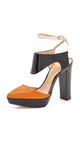 Beau Coops Beau Coops for Karen Walker Peltro Colorblock Platform Pumps