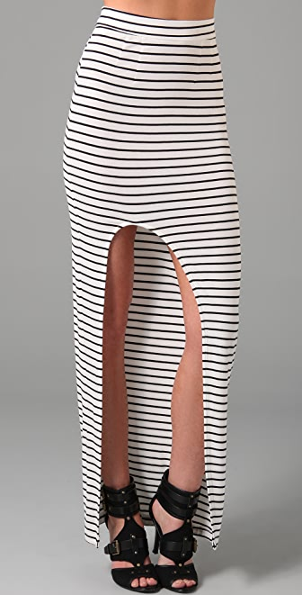 Bec & Bridge Cross My Heart Striped Long Skirt