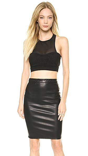 Bec & Bridge Platinum Mesh Crop Top
