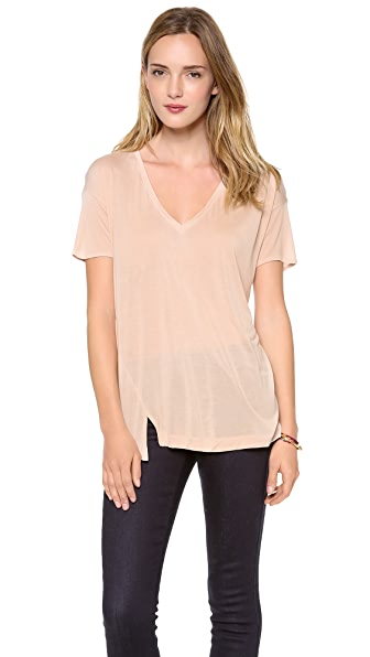 Bella Luxx Twist Seam V Neck Tee