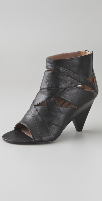 Belle by Sigerson Morrison Open Toe Cutout Booties