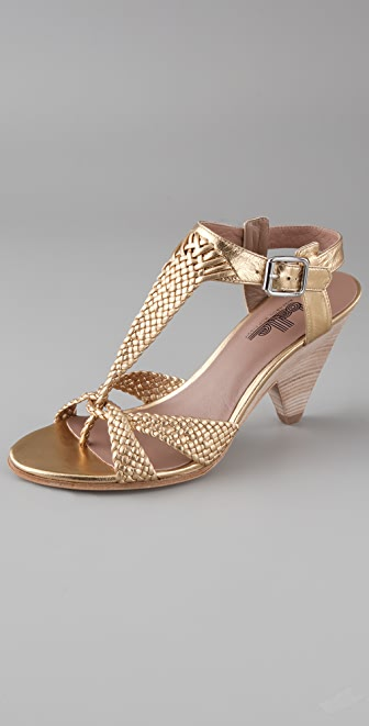 Belle by Sigerson Morrison Braided T Strap Sandals