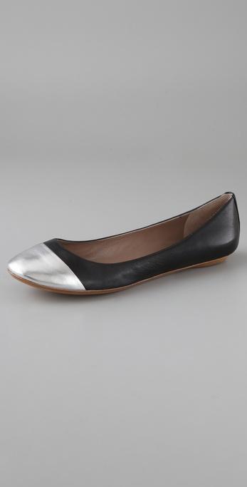 Belle by Sigerson Morrison Cap Toe Ballet Flats