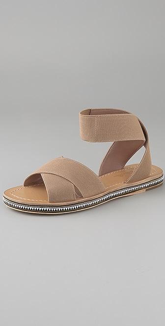 Belle by Sigerson Morrison Elastic Crisscross Flat Sandals