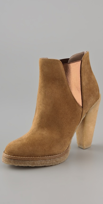 Belle by Sigerson Morrison Suede Platform Booties on Crepe Heel