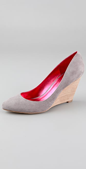Belle by Sigerson Morrison Suede Wedge Pumps