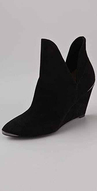 Belle by Sigerson Morrison Pixie Suede Wedge Booties