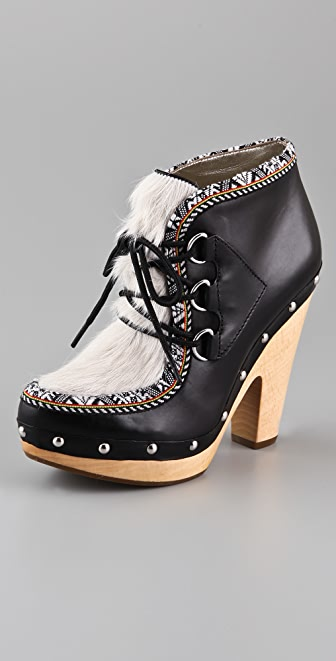 Belle by Sigerson Morrison Eskimo Clog Booties
