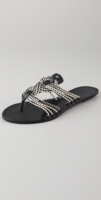 Belle by Sigerson Morrison Camilla Knotted Flat Sandals