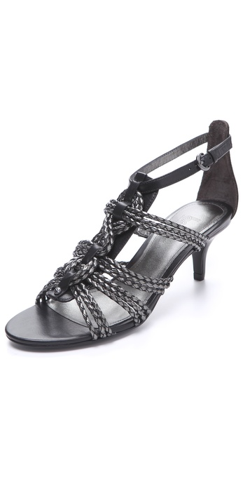 Belle by Sigerson Morrison Falda Metallic Twisted Knot Sandals