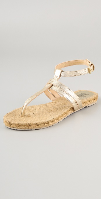 Belle by Sigerson Morrison Milly Flat Metallic Sandals