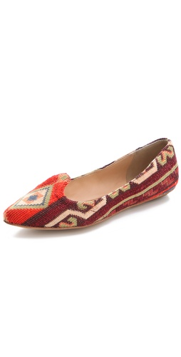 Belle by Sigerson Morrison Aztec Print Flats