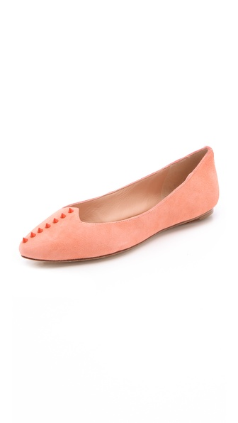 Belle by Sigerson Morrison Varsha Suede Stud Flats