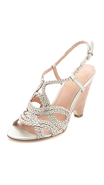 Belle by Sigerson Morrison Aspen Metallic Braided Sandals
