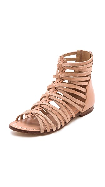 Belle by Sigerson Morrison Alpina Suede Gladiator Sandals