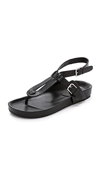 Belle By Sigerson Morrison Belle By Sigerson Morrison April Leather Sandals (Black)