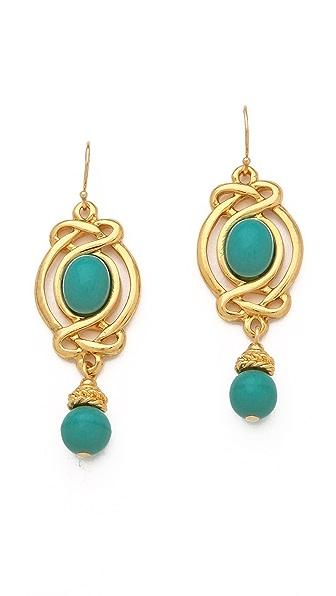 Ben-Amun Turquoise Drop Earrings