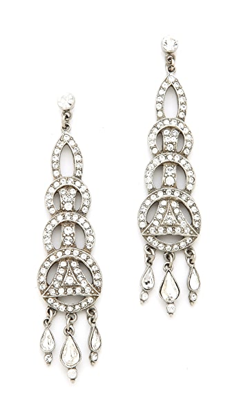 Ben-Amun Crystal Circular Drop Earrings