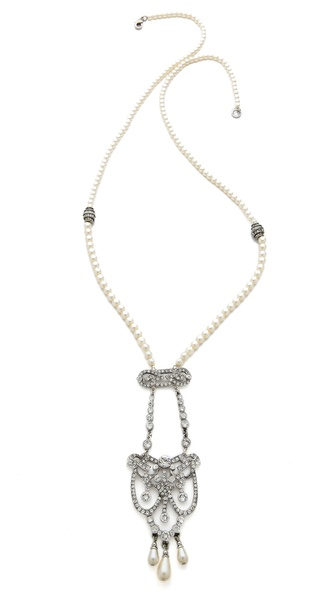 Ben-Amun Long Crystal Drop Necklace