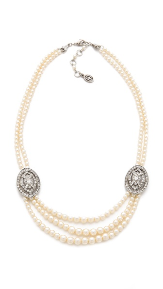 Ben-Amun Layered Crystal Necklace