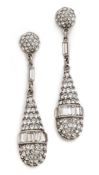 Ben-Amun Crystal Teardrop Earrings