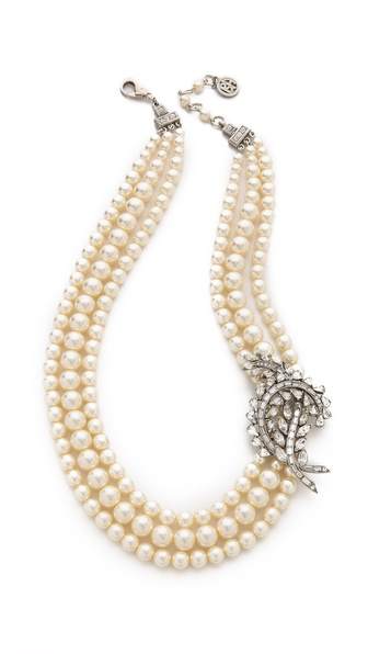 Ben-Amun Crystal Pearl Necklace