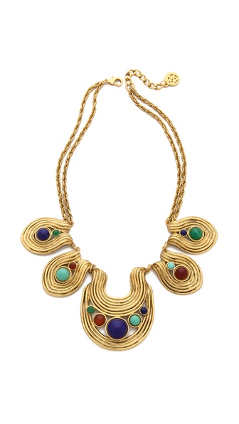Ben-Amun Swirl Stone Necklace