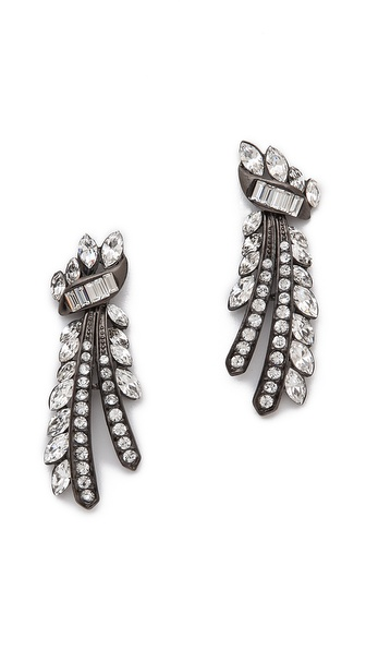 Ben-Amun Ornate Crystal Earrings