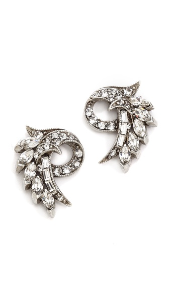 Ben-Amun Crystal Fan Earrings