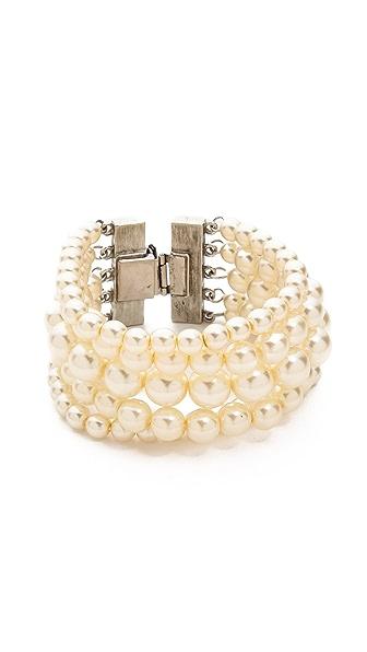 Ben-Amun Multi Strand Imitation Pearl Bracelet