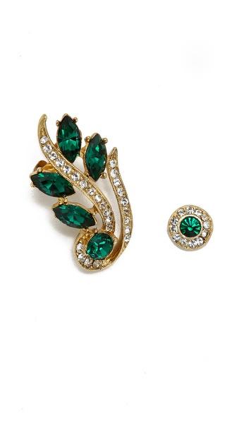 Ben-Amun Crystal Marquis Earrings