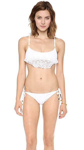 Bettinis Cali Crochet Trapeze Bikini Top