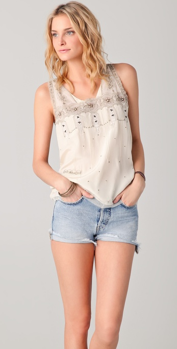 Beyond Vintage Embroidered Tank