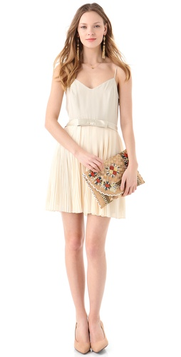 Beyond Vintage Pleated Dress with Bow
