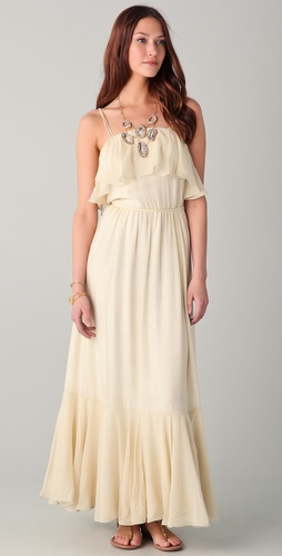 Beyond Vintage Ruffle Maxi Dress