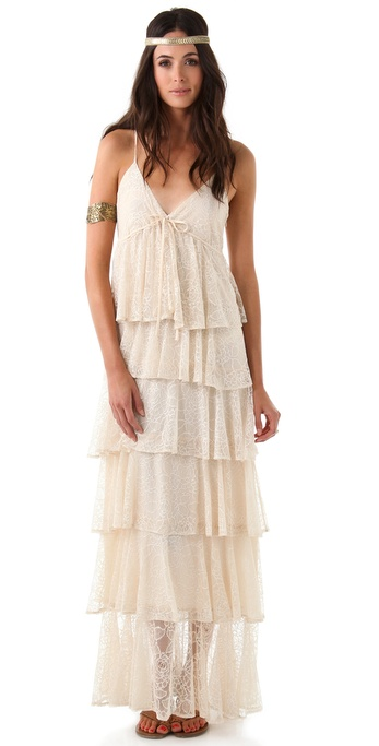 Beyond Vintage Lace Maxi Dress